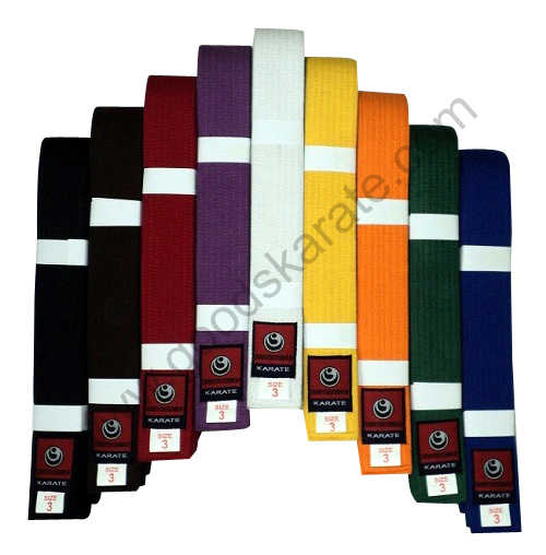 COLOR BELTS WITH SHINKYOKUSHINKAI LABELS
